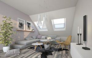 helle Wohnung im Dachgeschoss